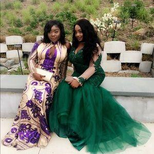 Dresses & Skirts - Selling beautiful purple and gold prom dress.